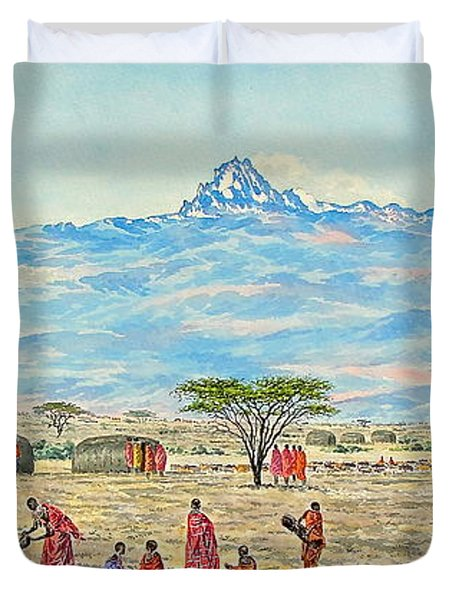 Mountain Village Duvet Cover