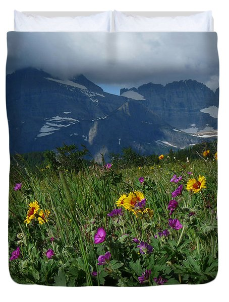 Mountain Wildflowers Duvet Cover by Alan Socolik