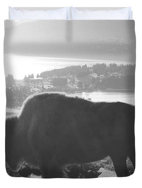 Mountain Wildlife Duvet Cover by Pixel  Chimp