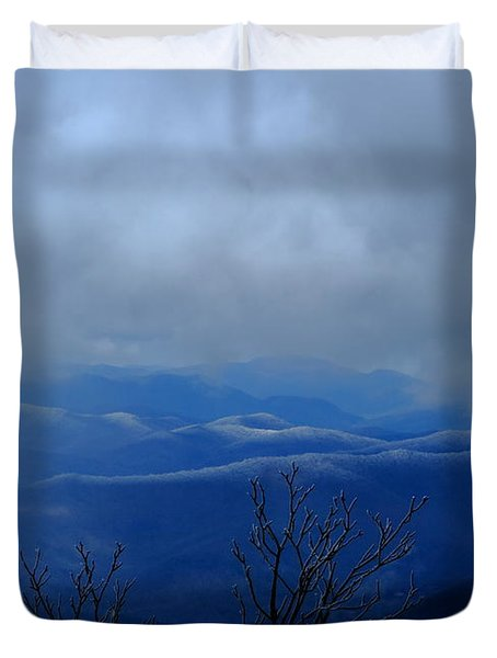 Mountains And Ice Duvet Cover