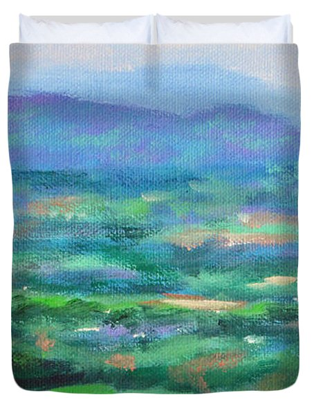 Mountains And Valleys- Summertime Along The Blue Ridge Parkway Duvet Cover