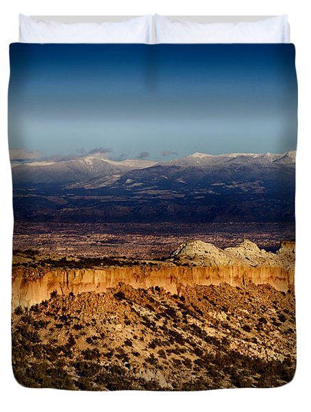 Mountains At Senator Clinton P. Anderson Scenic Route Overlook  Duvet Cover