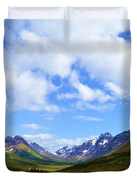 Mountains In Anchorage Alaska Duvet Cover