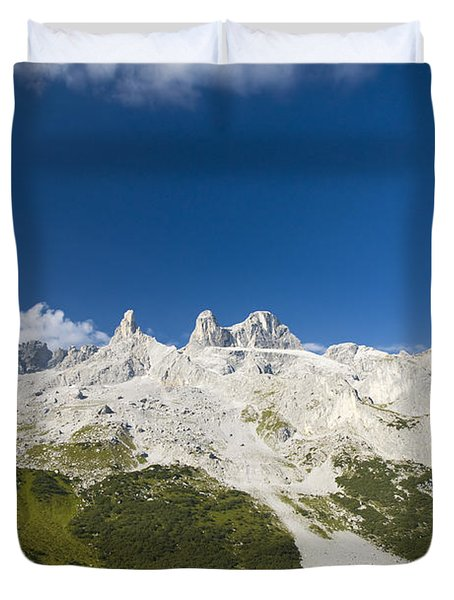 Mountains In The Alps Duvet Cover by Chevy Fleet