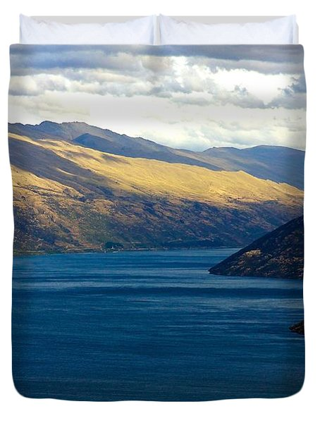 Duvet Cover featuring the photograph Mountains Meet Lake #2 by Stuart Litoff