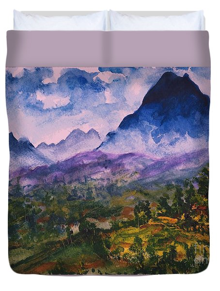 Mountains Of Pyrenees  Duvet Cover