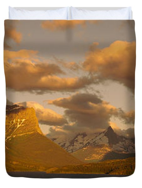 Mountains Surrounding A Lake, St. Mary Duvet Cover