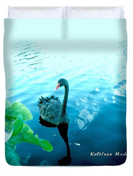 Mourning Swan Song Duvet Cover