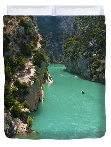 Mouth Of The Verdon River  Duvet Cover by Bob Phillips