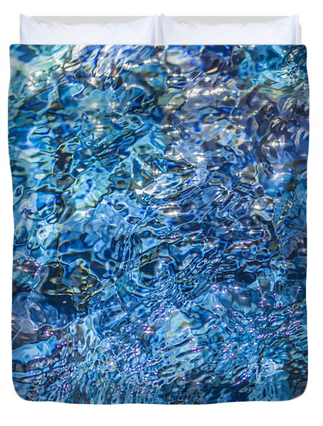 Duvet Cover featuring the photograph Moving Water 1 by Leigh Anne Meeks