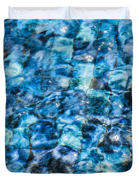 Duvet Cover featuring the photograph Moving Water 2 by Leigh Anne Meeks