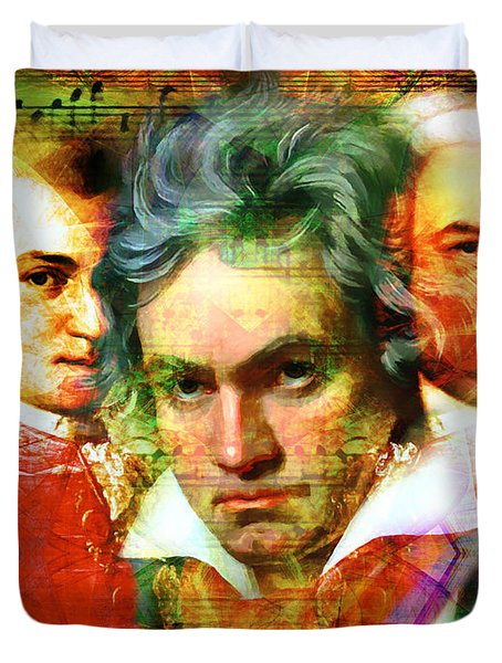 Mozart Beethoven Bach 20140128 Duvet Cover
