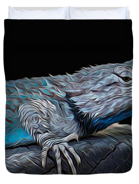 Mr Blu Duvet Cover by Michael Moriarty