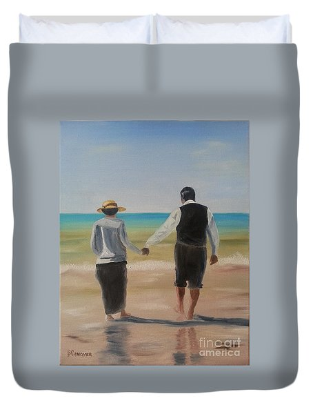 Mr. Carson And Mrs. Hughes Duvet Cover by Bev Conover
