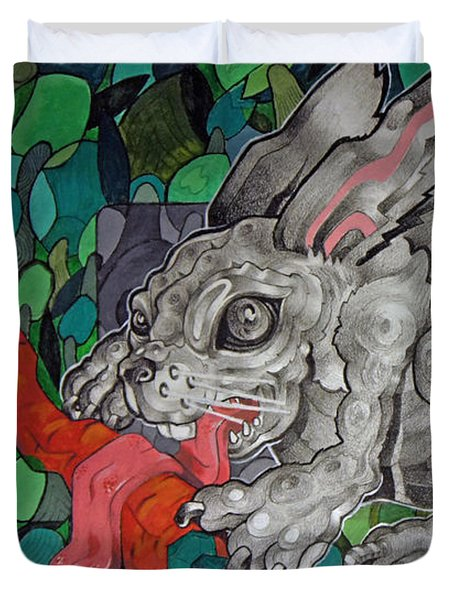 Mr Greedy Bunny Duvet Cover