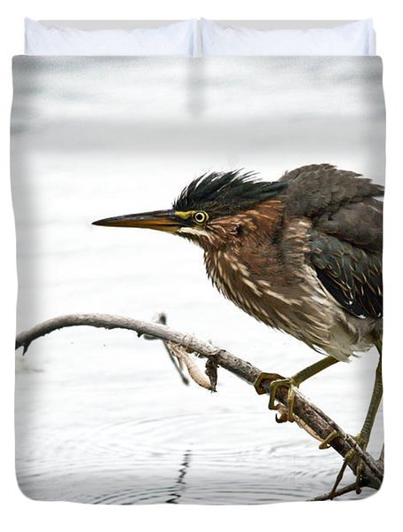 Mr. Green Heron Duvet Cover