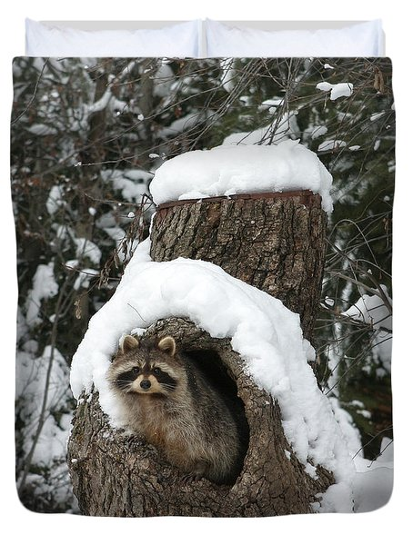Mr. Raccoon Duvet Cover