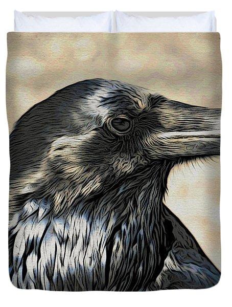 Mr. Raven Duvet Cover