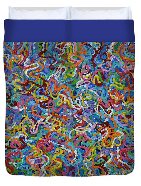 Mr Squiggles Duvet Cover