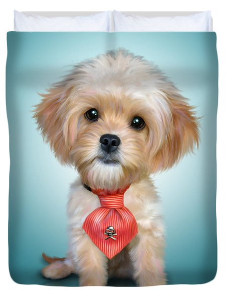 Mr. Toby Waffles The Cavapoo Duvet Cover