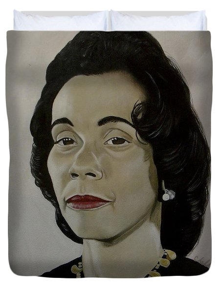 Mrs. Coretta Scott King Duvet Cover