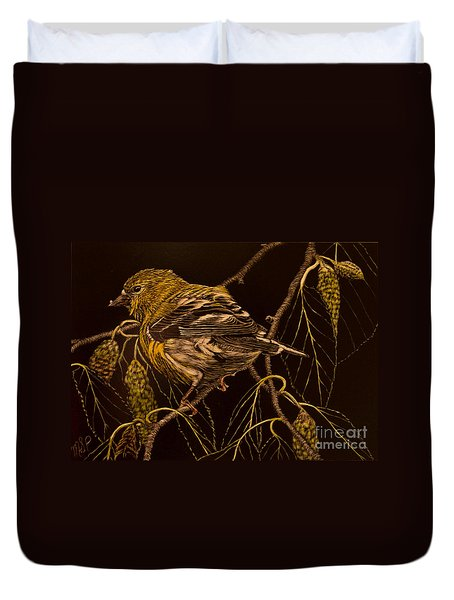 Mrs Goldfinch Duvet Cover