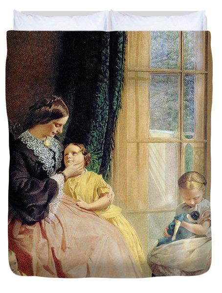 Mrs Hicks Mary Rosa And Elgar Duvet Cover by George Elgar Hicks