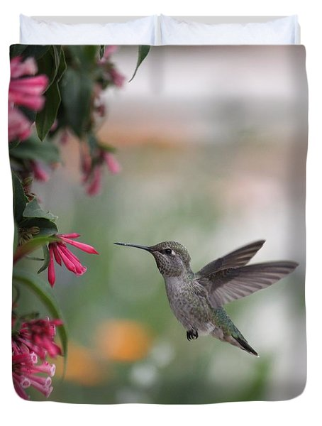 Mrs. Little Anna's Hummingbird Duvet Cover