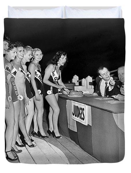 Mrs. New Jersey Contestants Duvet Cover