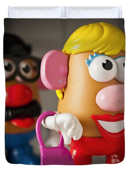 Mrs. Potato Head Duvet Cover by Bradley R Youngberg