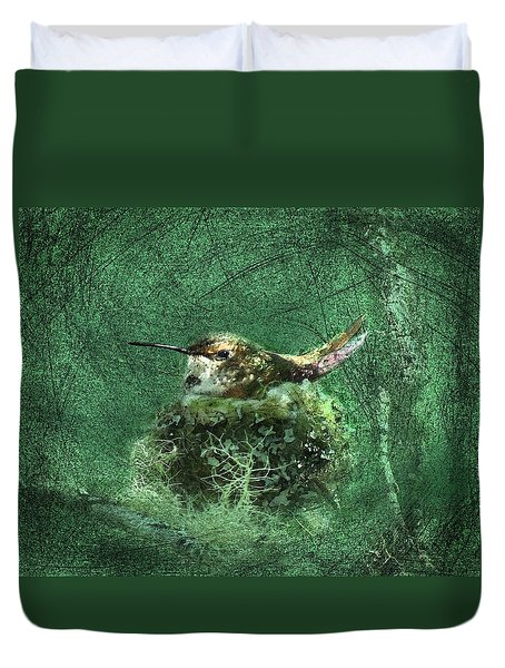 Mrs. Rufous Duvet Cover