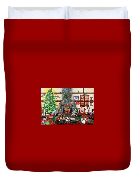 Ms. Elizabeth's Holiday Home Duvet Cover