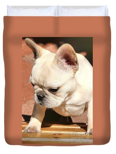French Bulldog Ms Quiggly  Duvet Cover