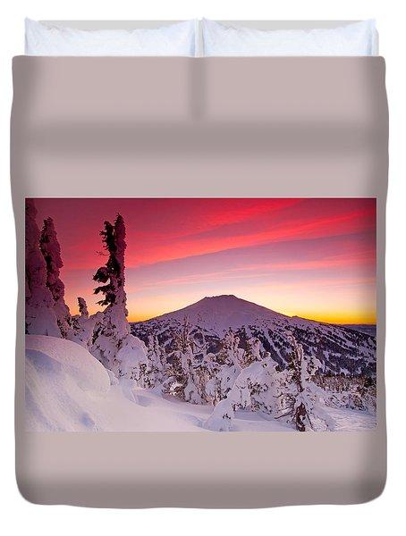 Mt. Bachelor Winter Twilight Duvet Cover