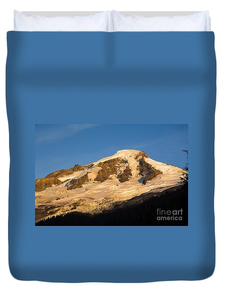 Duvet Cover featuring the photograph Mt.baker At Sunset  by Yulia Kazansky