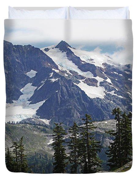 Mt Baker Washington View Duvet Cover by Tom Janca