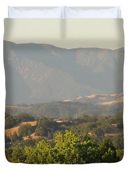 Duvet Cover featuring the photograph Mt. Cali by Shawn Marlow