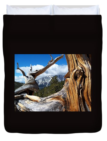 Mt. Charleston Thru A Tree Duvet Cover