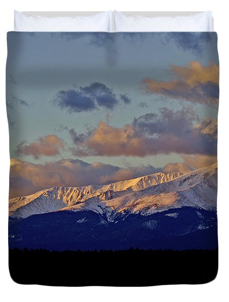Mt Elbert Sunrise Duvet Cover by Jeremy Rhoades