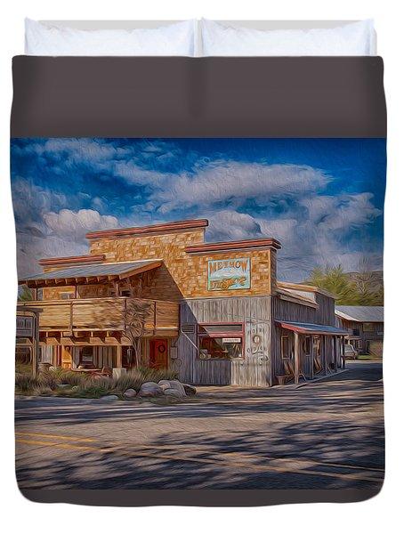 Mt Gardner Inn And Fly Shop Duvet Cover by Omaste Witkowski