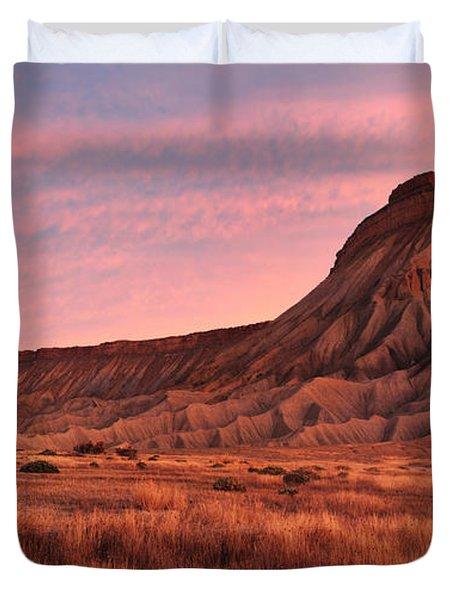 Mt Garfield Sunrise Duvet Cover