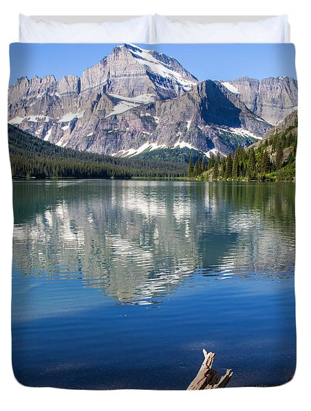 Mt Gould Reflections Duvet Cover