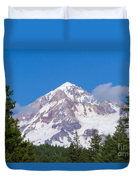 Mt. Hood #2 Duvet Cover by Paul Rebmann