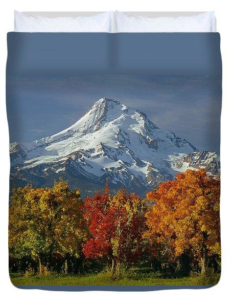 1m5117-mt. Hood In Autumn Duvet Cover