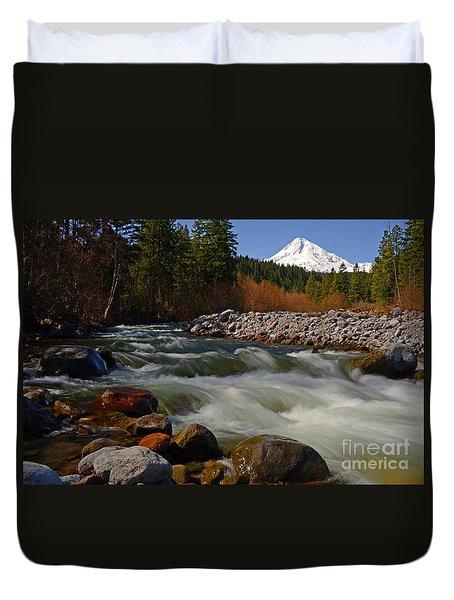 Mt. Hood Landscape Duvet Cover