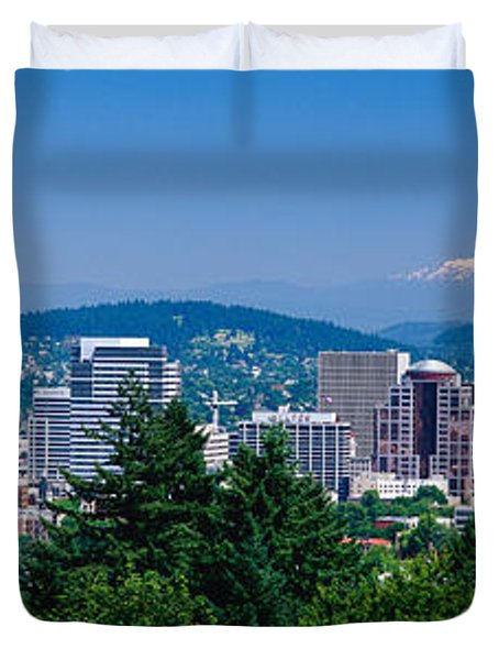 Mt Hood Portland Oregon Usa Duvet Cover