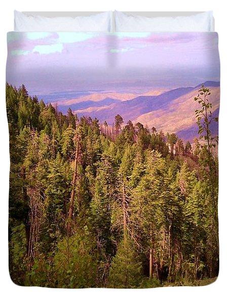 Mt. Lemmon Vista Duvet Cover by Robert ONeil