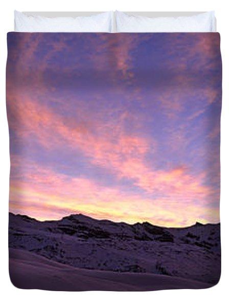 Mt Matterhorn At Sunset, Riffelberg Duvet Cover