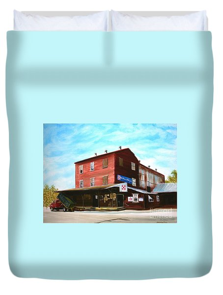 Mt. Pleasant Milling Company Duvet Cover by Stacy C Bottoms