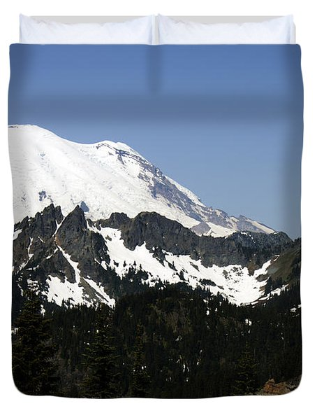 Mt Rainer From Wa-410 Duvet Cover